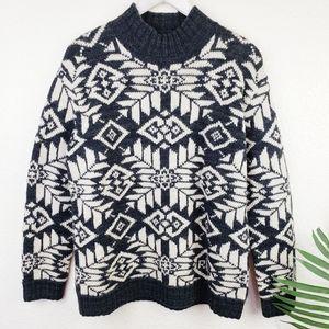 LRL Ralf Lauren 100%Worsted Wool Icelandic Sweater